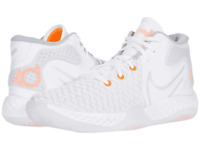 nike kevin durant kd trey 5 viii grey white gray orange men's basketball shoes