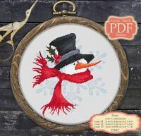 Snowman - Christmas / New Year - Modern Cross stitch PDF Pattern - 045