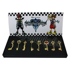 8pcs Kingdom Hearts II KEYBLADE Sora Riku Necklace Pendant New In Box Gold