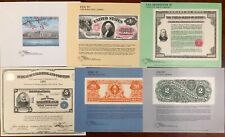 United States BEP B 101-106 Souvenir Cards 1987 Mint