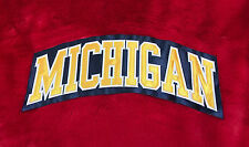 """Michigan Wolverines """"Michigan"""" Embroidered Patch 11""""x4.3"""""""
