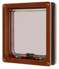 Cat Mate Lockable Large Cat Flap - BROWN (221B)