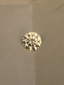 GIA Certified Loose Moissanite 1ct Round NEAR COLORLESS/FLAWLESS HARDNESS 10