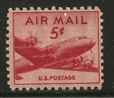 US Scott #C33, Single 1946 Air Mail 5c FVF MNH