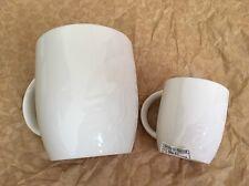 Starbucks Korea Mugs Laser Etched Siren Logo White Green Ritual Cup 8oz 3oz Set