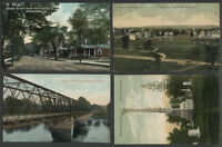 Mechanicville Saratoga Co. NY: Lot of Four c.1907-09 Postcards BUILDINGS, MORE