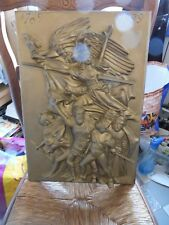 plaque en bronze LA LIBERTE- 1789-1989- bicentenaire revolution