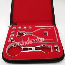 Dental Rubber Dam Kit Separator rubber dam rubber dam punch Clamp forceps 12PCS