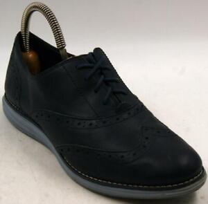 Cole Haan Original Grand Waterproof Blue Leather Oxford Women's Shoes Sz 8.5 B