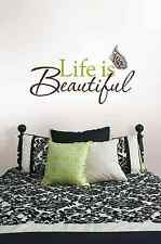 Life Is Beautiful Quote Reusable Removable Wall Decals Sticker Art Room Decor