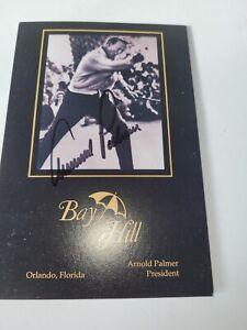 Arnold Palmer Autograph Bay Hill  Scorecard with COA Arnold Palmer President