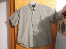 FALCON BAY MEN'S OLIVE GREEN  SHIRT w/ BUTTON DOWN COLLAR ...SZ..XL