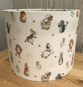 Handmade Lampshade in Beatrix Potter, Peter Rabbit and Friends, Various sizes