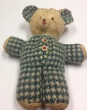 VINTAGE OLD  SAWDUST STUFFED SWEET BEAR THEY DON'T MAKE THEM LIKE THIS ANYMORE