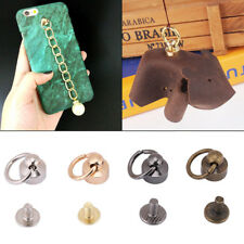 20 Sets Pacifier Shape Rivets Studs with Pull Ring Leather Bag Phone Case Decor