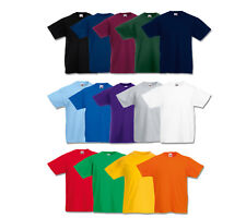FRUIT OF THE LOOM T-SHIRT KINDER 104 116 128 140 152 164 NEU SHIRTS 14 FARBEN
