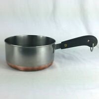 Revere Ware double ring saucepan 2 qt copper bottom NO lid VTG cookware #1