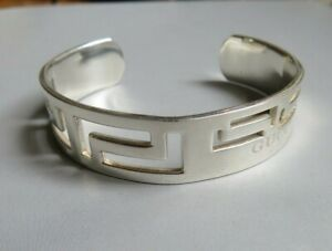 Lovely 925 Sterling Silver GUCCI Cuff Bangle