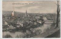 Ansichtskarte Kempten im Allgäu - Blick auf die Altstadt - 1918 - schwarz/weiß
