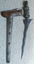 1- Java Keris / Kris with Stones on Scabbard and Hilt as shown.