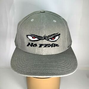 Vintage No Fear Gray Snapback Hat Cap