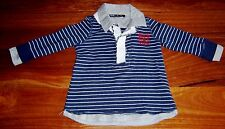 BEAU BY BARDOT BABY BOYS TOP WITH SHIRT COLLAR AND CUFFS SZ 0