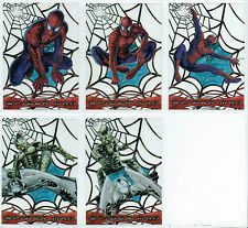 SPIDERMAN THE MOVIE SET OF 5 WEB SHOOTER CLEAR CARDS