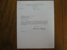 HOWARD T. BOYD  El Paso Natural Gas Co.(Died-1992) Signed  Personal Letter 1972