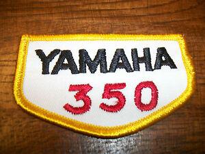 Yamaha 350 patch Vintage Embroidered 1970s NOS RD350 TT350  Warrior Raptor