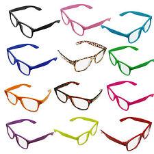 Neon Geek Glasses Festival Fun Party wear 80's Coloured Fancy Dress Costume UK