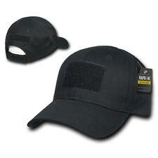 Solid Black Tactical Operator Contractor Military Patch Cap Caps Hat Hats