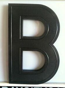 Large Slotted Dimensional Movie Marquee Letters ~ 17 Inch Tall Black