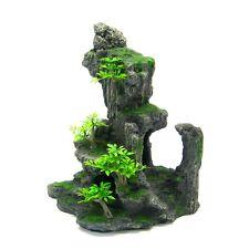 New listing Aquarium Decorations Mountain View Tree - Large Rock Tropical Plants Fish Tank