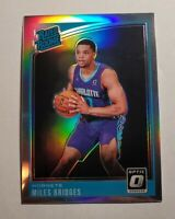 2018-19 DONRUSS Optic Rated Rookie Silver Prizm HOLO  Miles Bridges RC HOT!