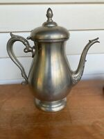Vintage Preisner Solid Pewter Ornate Teapot #2062 In Nice Vintage Condition
