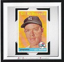 1958 Topps GIL McDOUGALD #20 VG/EX *RARE YELLOW NAME VERSION*.d5