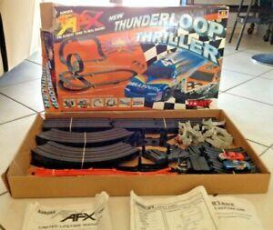 Tomy AFX THUNDERLOOP THRILLER Slot Car Set - Almost Complete