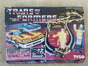 Vintage 1985 Tyco HO Transformers Night Glow Slot Car Racing Set