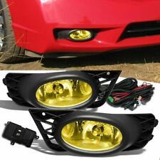 Fog Lights Yellow Lens W/ Switch+Wiring Kit For 2009-11 Honda Civic Sedan 4Door