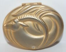 Vintage Compact Estee Lauder Golden Capricorn Part of Heavenly Body Collection