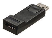 Adaptateur DisplayPort mâle vers entrée HDMI femelle noire