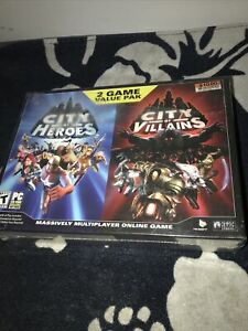 2004-06 City Of Heroes Villains 2 Game Big Box Value Pack PC game Factory Sealed
