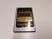 VALHALA D 501 SOUND CARD for ROLAND D 50