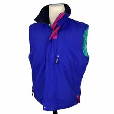Vintage Patagonia Insulated Vest Men's Large Blue Pink Green Color Block Puffer