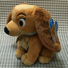 "NWT Disney LADY and the Tramp Plush Stuffed Animal 6"" tall Puppy Dog"