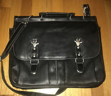 Walt Disney World PVC Leather Mickey Mouse Black Travel Laptop Shoulder Bag Case