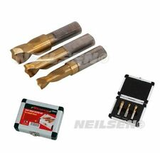 Neilsen 3PC Spot Weld Cutter Drill Bits Set Titanium Coated Cobalt 6.5, 8 & 10 *