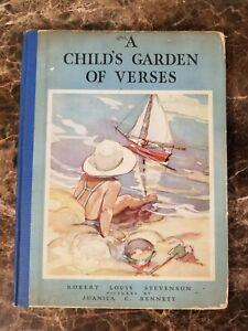 A Child's Garden Of Verses by Robert Louis Stevenson 1932  Hardcover
