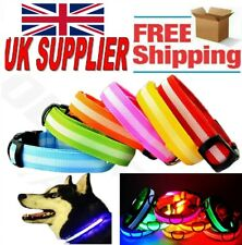 Beautiful LED Light Pet Collar Flashing Luminous Adjustable Safety Nylon Collar