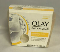 Olay Daily Facials, 33 Ct., 5-in-1 Water Activated Dry Cloths, Nourishing Clean